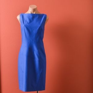 David Meister Sheath Midi Blue Dress 12